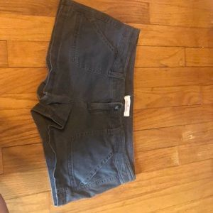 Navy green hollister shorts